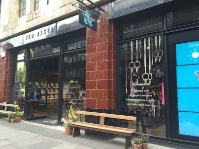 Ted Baker & Moore, shoreditch, retail innovation, retail trends, trend tours, London retail, insight tours,