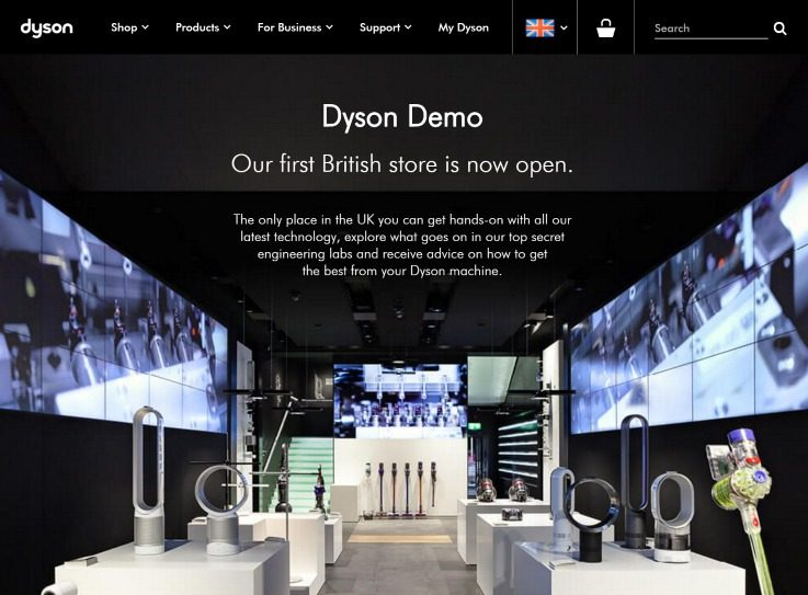 Flagship stores London - technology stores Dyson