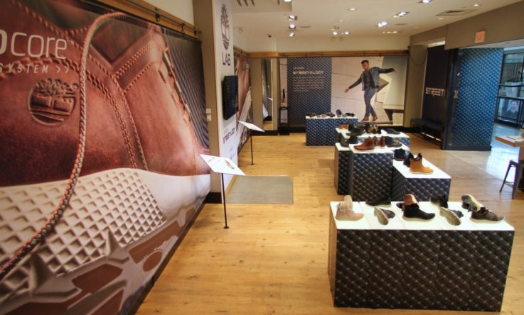 Timberland Tree Lab rotating retail concept