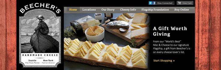 Beecher's Handmade Cheese luxury retail experiences