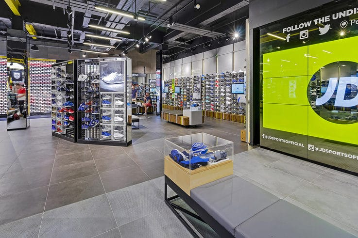 JD Sports retail store design