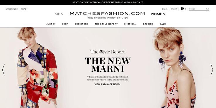 Matchesfashion luxury ecommerce retail