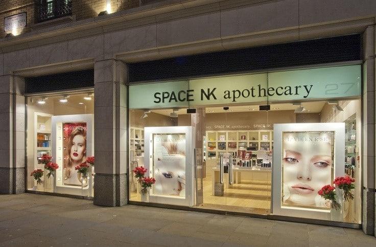 Space NK retail sales per square foot