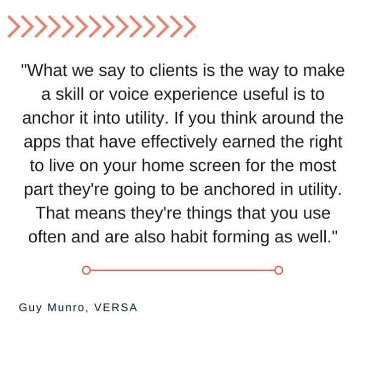 Versa - Guy Munro quote