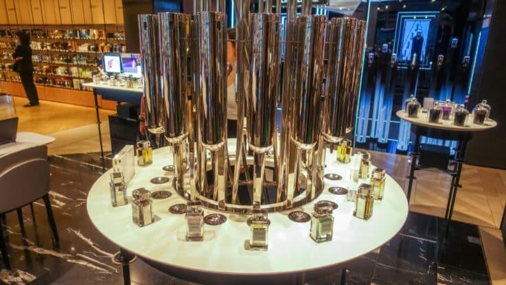 Paris retail perfume refill station