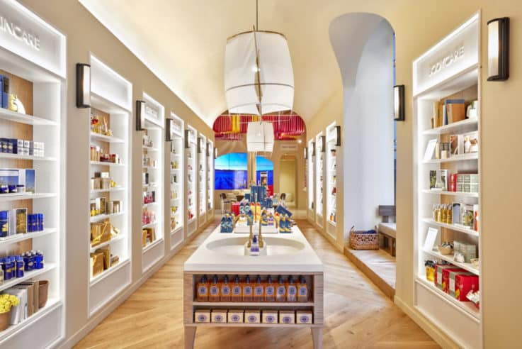 L'Occitane Flatiron retail visual merchandising