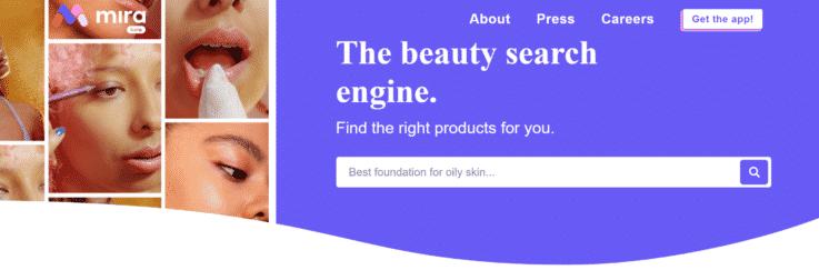 Mira beauty search engine